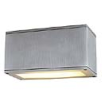 SLV Lighting 229616 Theos 101 E27 IP44 Brushed Aluminium Low Level Wall Light