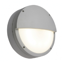 Saxby Lighting 7016A Brook IP65 28w 2D Eyelid Bulkhead Light In Grey