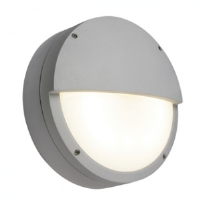 Saxby Lighting 7016AEM Brook IP65 28w 2D Emergency Version Eyelid Bulkhead In Grey