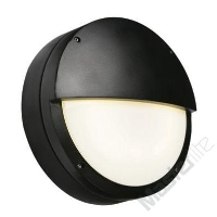 Saxby Lighting 7016BEM Brook IP65 28w 2D Emergency Version Eyelid Bulkhead In Black