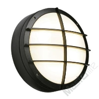 Saxby Lighting 7014B Lake IP65 28w 2D Bulkhead Light With Front Cover Grill In Black