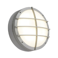 Saxby Lighting 7014AEM Lake IP65 28w 2D Emergency Version Bulkhead Light With Front Cover Grill In Grey