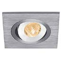SLV Lighting 111872 Lelex 1 LED Downlight In Brushed Aluminium With A Warm White LED