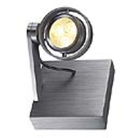 SLV Lighting 147762 Kalu II LED 3 Indoor LED Wall Light In Brushed Aluminium With A Warm White LED