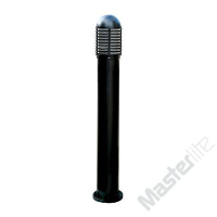 Saxby Lighting CH200E27BK 60w ES 1000mm Tall Outdoor Garden Louvre Bollard Light In Black