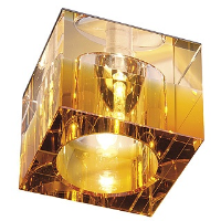 SLV Lighting 114962 Yudi Low Voltage Square Downlight In Amber And Clear