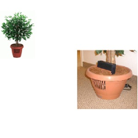 Amcor AM-70 Ficus Tree Air Purifier Artificial Ficus Tree Planted In A Round Pot