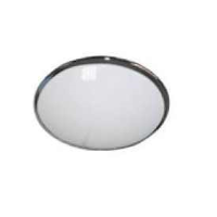 IP20 Decorative Round 28w 2D Emergency Bulkhead Light In Chrome/Opal