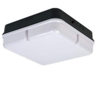 Black/Opal IP65 High Frequency Square Polycarbonate 28w 2D Bulkhead Light