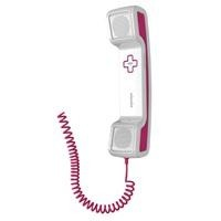46977 Swissvoice ePure Corded Handset For Mobile Phones In Pink And White
