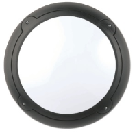 16w 2D High Frequency Mini Bulkhead Fitting In Black With Opal Diffuser