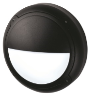 16w 2D High Frequency Mini Bulkhead Eyelid Fitting In Black With Opal Diffuser