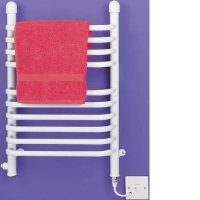 Dimplex BR150W 150w Ladder Towel Rail In White