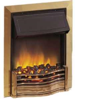 Dimplex DAN20BR Danesbury 2kW Inset Electric Fire In Brass