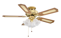 "Global Belaire 42"" Ceiling Fan In Polished Brass"