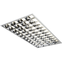 1200 x 600 4 Tube High Frequency Emergency Version T8 Recessed Modular Light Fitting With A Cat2 Louvre