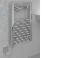 Kudox KTR150STDCHR Flat Liquid Filled Electric Ladder Towel Rail In Chrome