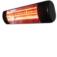 Victory Lighting HLW20BG 2000W Infrared Halogen Quartz Heater In Black With Gold Lamp