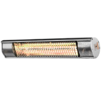 Heat Outdoors 901377 Shadow 2.0kW Ultra Low Glare Patio Heater In Silver