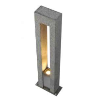 SLV 231420 Arrock Arc GU10 Salt & Pepper Colour Outdoor Bollard Light