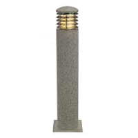 SLV 231431 Arrock Granite 70 Round Salt & Pepper Colour Outdoor Bollard Light