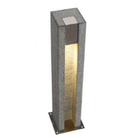 SLV 231440 Arrock Slot GU10 Salt & Pepper Colour Outdoor Bollard Light