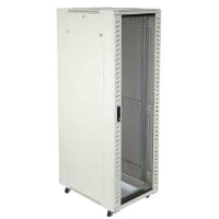 Excel 542-4266-GSBN-GW 42u Floor Standing Data Cabinet In Grey White Complete With Castor Wheels