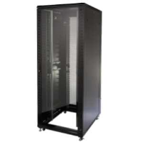 Excel 542-4266-GSBN-BK 42u Floor Standing Data Cabinet In Black Complete With Castor Wheels