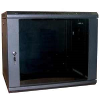 Excel WB12.5SGB 12u 500mm Deep Wall Rack Cabinet In Black