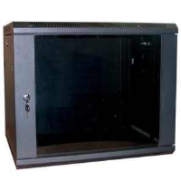 Excel WB15.5SGB 15u 500mm Deep Wall Rack Cabinet In Black
