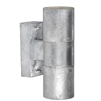 Nordlux Castor Double Galvanised Steel IP54 GU10 Wall Light