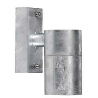 Nordlux Castor Single Galvanised Steel IP54 GU10 Wall Light