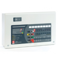 C-Tec CFP708-2 Alarmsense 8 Zone 2 Wire Fire Alarm Panel With Keypad / Keyswitch Entry