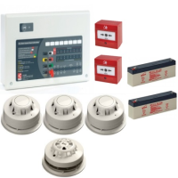AlarmSense 2 Zone 2 Wire Fire Alarm Kit With A C-Tec Panel
