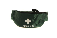 1 Person First Aid Kit in Green Bum Bag