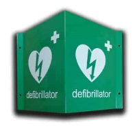 3D Wall Mounted AED Location Sign