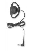 Receive only D-ring Earpiece with 3.5mm connector