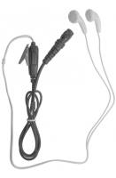 WHITE EARPHONE BUD STYLE EARPIECE WITH UNIVERSAL CONNECTOR
