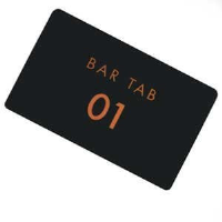 Bar Tab Cards, Pack of 25, Numbered 01-25