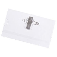 Acetate Convention/Event Badge Holders with Pin & Clip