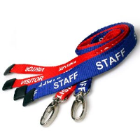 50 Staff and 50 Visitor safety breakaway lanyards pack