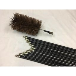 "5"" inch x 30ft Chimney Soot Cleaning Rod Suppliers"