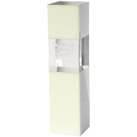 24cm Clear & White Optical Crystal Square Column Award