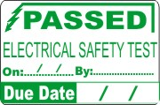 Passed Electrical Test Paper Labels (180)