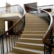 Staircase Balustrade in Bright Steel & Bronze