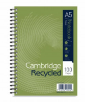 Cambridge Recycled A5 Spiral Wiro Notebooks pack of 5