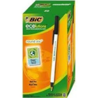 EcoLutions Recycled stick ballpens Black box of 60
