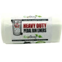 Ecobag Heavy Duty Recycled Pedal Bin Liners 22 Litres x 50