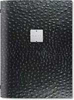 Dag Style Recycled Black Leather Menu Holder A5