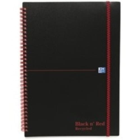 Back n Red Recycled Polypropylene A4 Notebooks pack 5